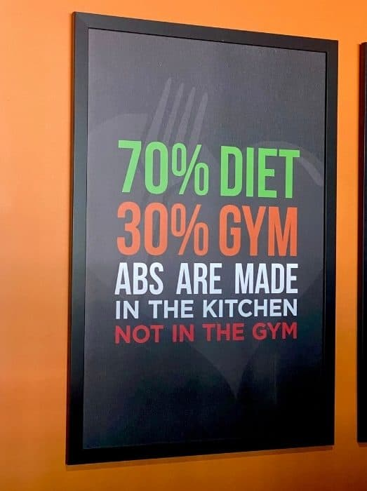 abs are made in the kitchen sign at Clean Eatz