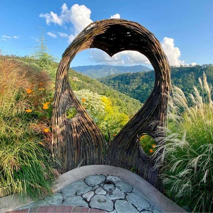 heart shape view of Smoky Mountains at Anakeesta