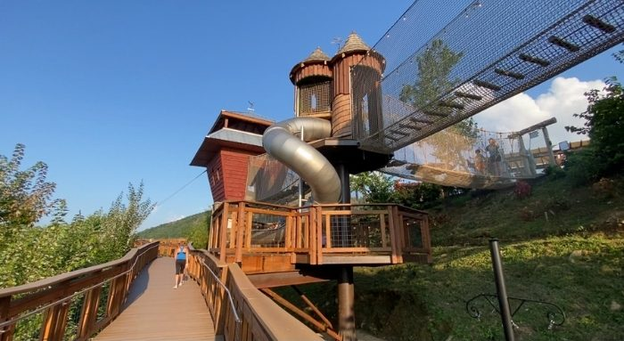 slide for TreeVenture Challenge Course