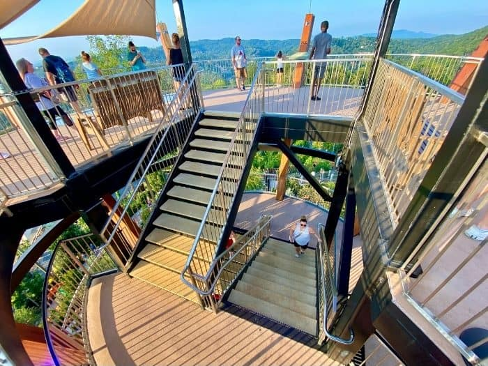 stairs at AnaVista Observation Tower