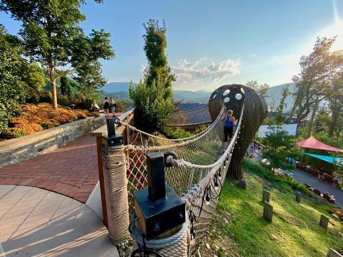 swinging bridge at Vista Gardens at Anakeesta