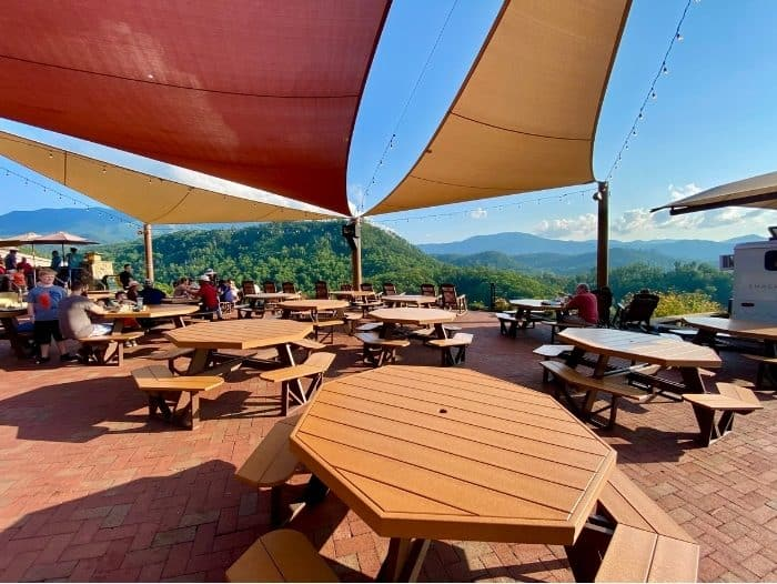 view from picnic tables at Anakeesta