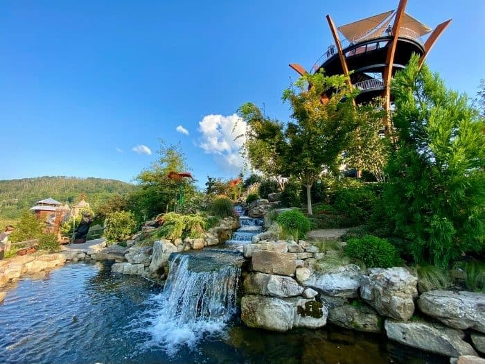 waterfall at Vista Gardens